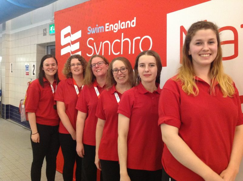 Cheltenham Synchronised Swimming Club members enjoyed a great set of results at the National Masters. Pictured, from left, Alyssa Templer, Sam Fancourt, Sarah Pullan, Annemarie Thouless, Chloe Cullen, Charlotte Nash.