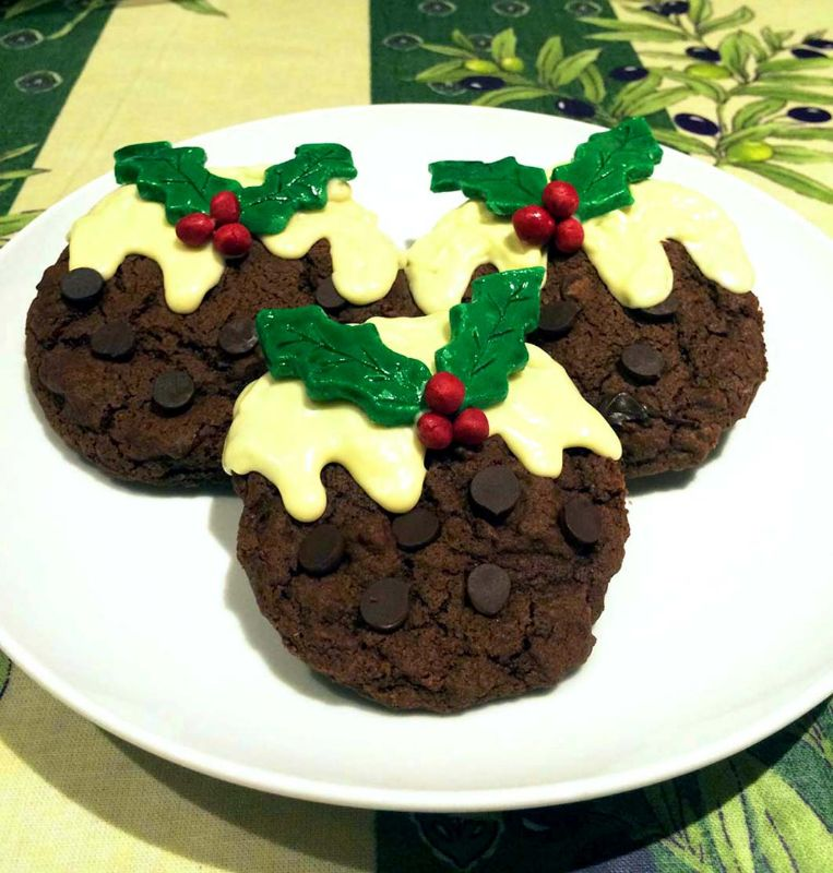 Triple Chocolate Christmas Pudding Cookies The Local Answer