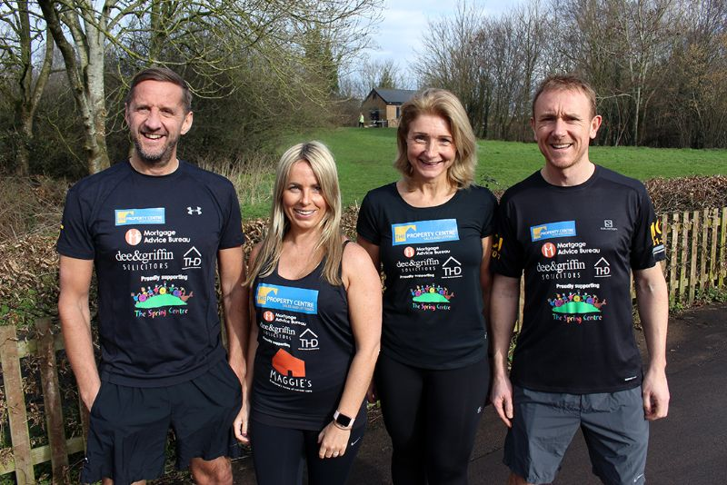 From left, Simon Trippett, Victoria Anderson, Wendy Worger and Steve Jones
