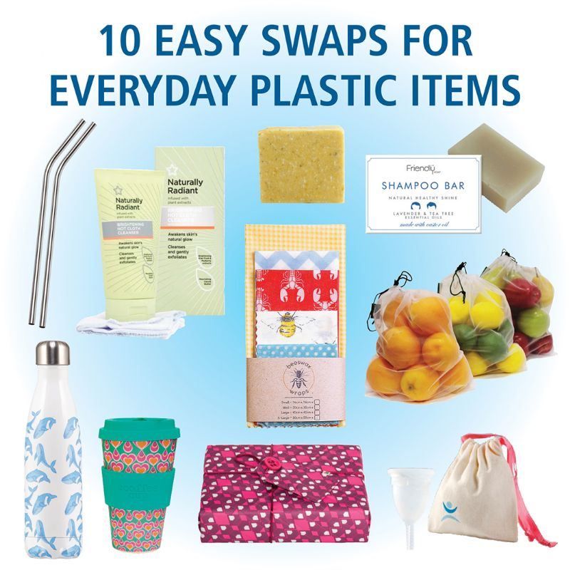 Our suggestions of ten easy swaps for everyday plastic items.