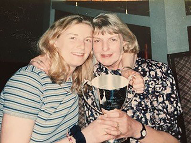 Fiona Geaves, left, with her mum Jan