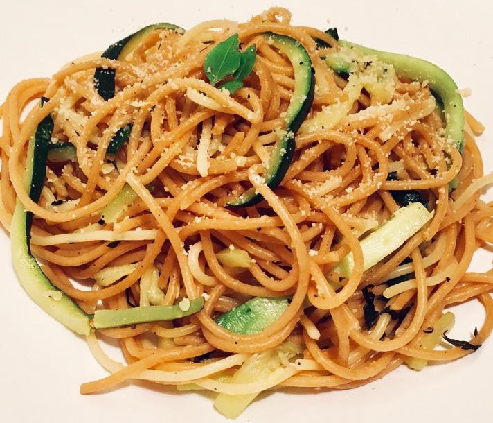 Lemony courgette pasta