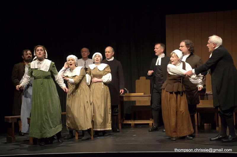 The Rococo Players during their performance of 'The Crucible'