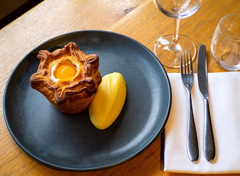 Haddock and Leek Pie at The Churchill Arms