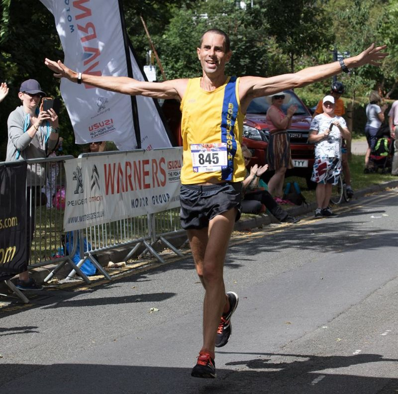 Steve Way, from Hampshire, won last year's Gloucester Marathon in a time of two hours, 29 minutes, 45 seconds