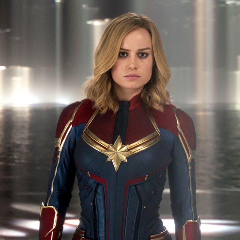 Brie Larson as Captain Marvel. Photo, Marvel Studios