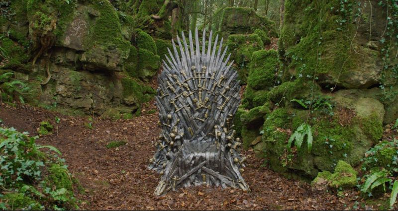 The 'Iron Throne' will be in Puzzlewood until Monday 1st April