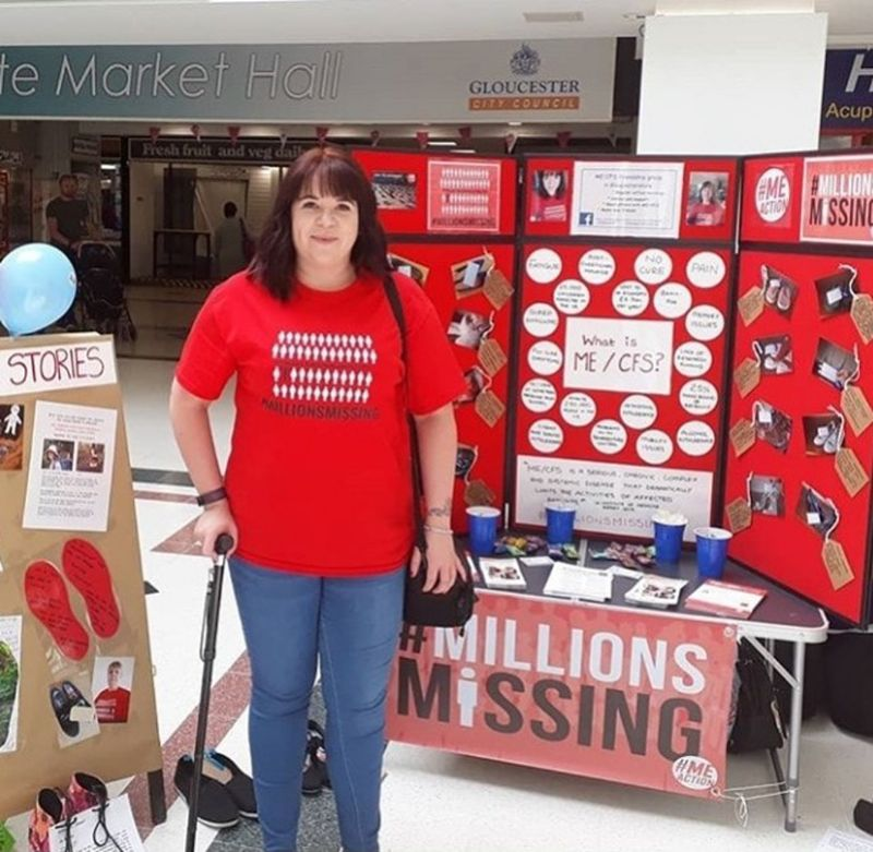 Chantelle at last year's Millions Missing event in Gloucester