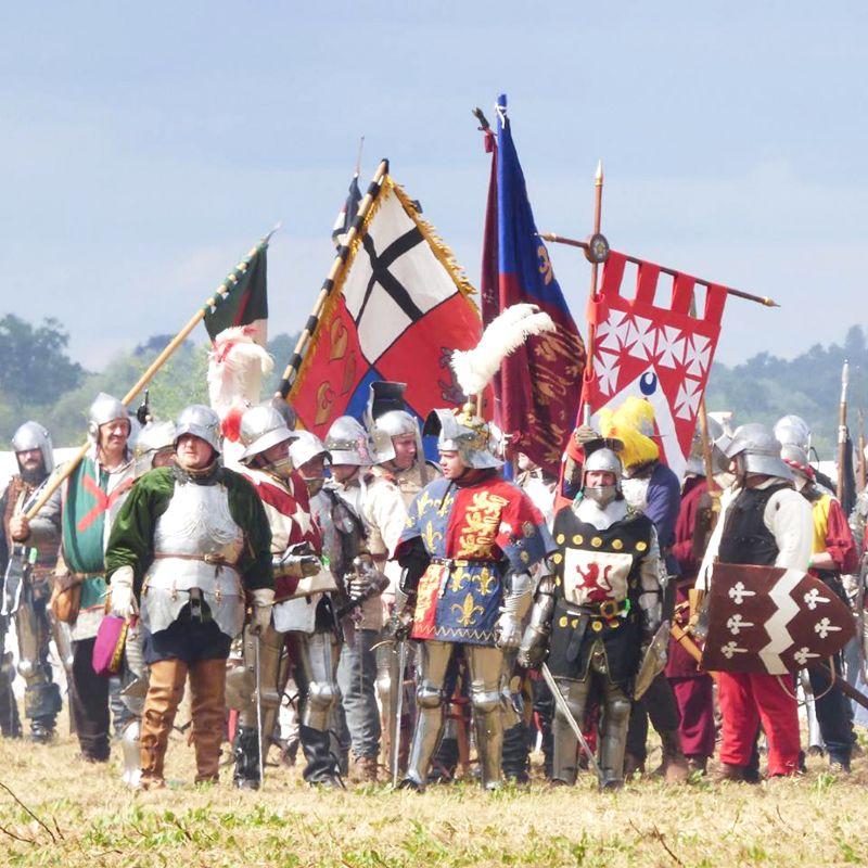 The re-enactors at the Tewkesbury Medieval Festival