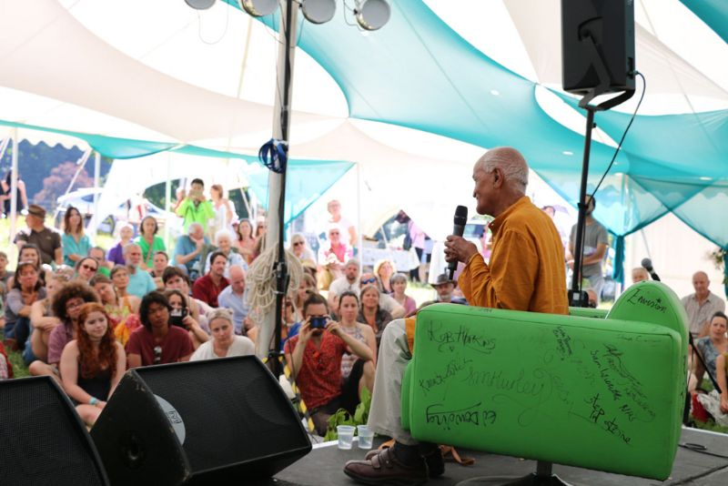Satish Kumar at the 2017 festival