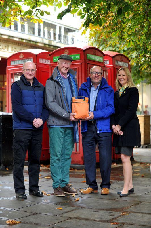 From left: PC Steve Kiernan, Cheltenham Licensing Officer; Chris Hickey, co-founder of PubLIC Hearts Appeal Cheltenham; Kevan Blackadder, BID Director; Clare Seed, co-founder of PubLIC Hearts Appeal Cheltenham.
