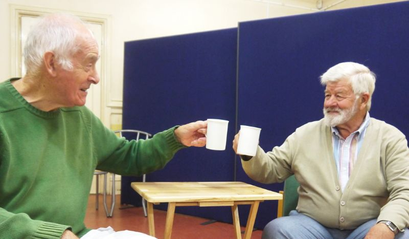 Martin Stockwell (left) and Tony Partridge during rehearsals