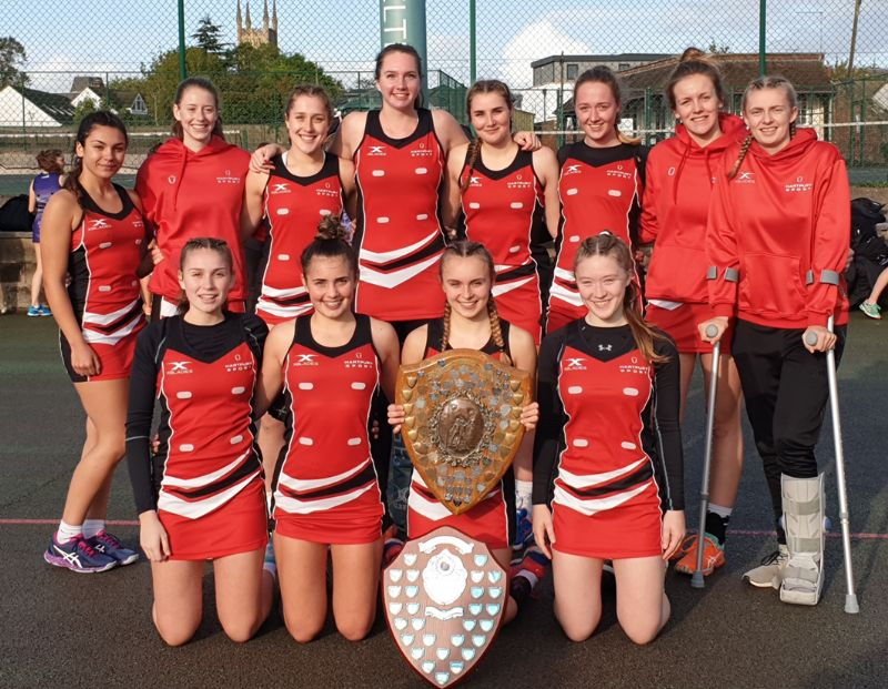 The Hartpury College netball squad after winning the Gloucestershire Schools Netball Tournament for the 11th time in the past 12 years.