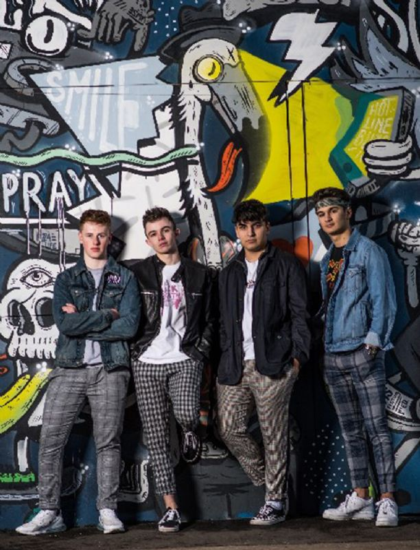 Pictured left to right – Scott, Sam, Dan and Max