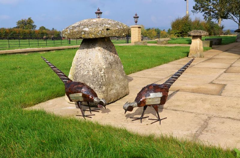 Zimbolic's pheasants are amongst their most popular sculptures