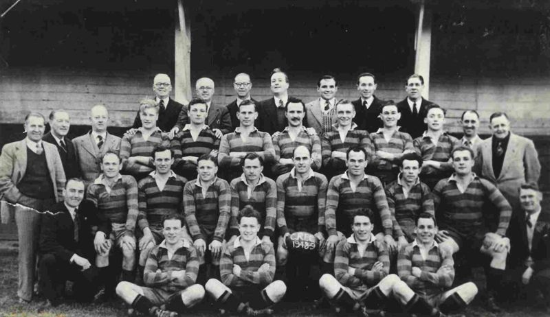Cheltenham in 1948/49. Frank Cherrington is in the second row, second from the right