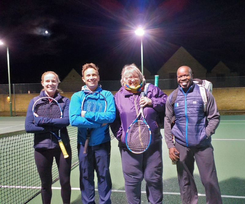 Bourton Vale A's Gloucestershire Winter League players, from left, Clare Bell, Joe Sach, Mandy Kendall and Wasya Awori