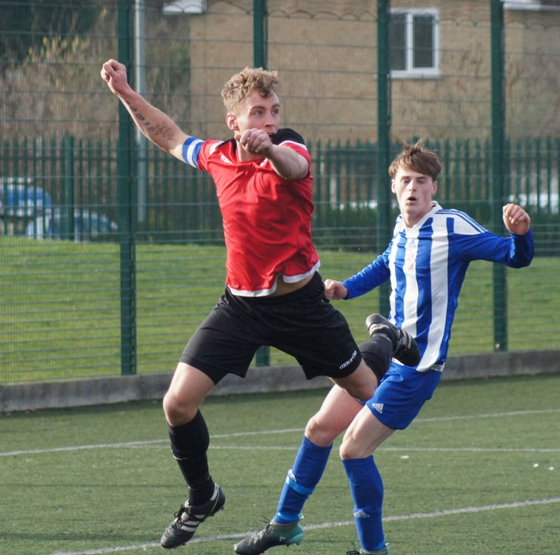 Action from the Division One clash between Dowty Dynamos and Shurdington Rovers
