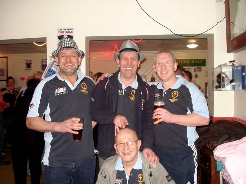 Mike Bayliss, back row, centre, has been belting out the tunes in recent months
