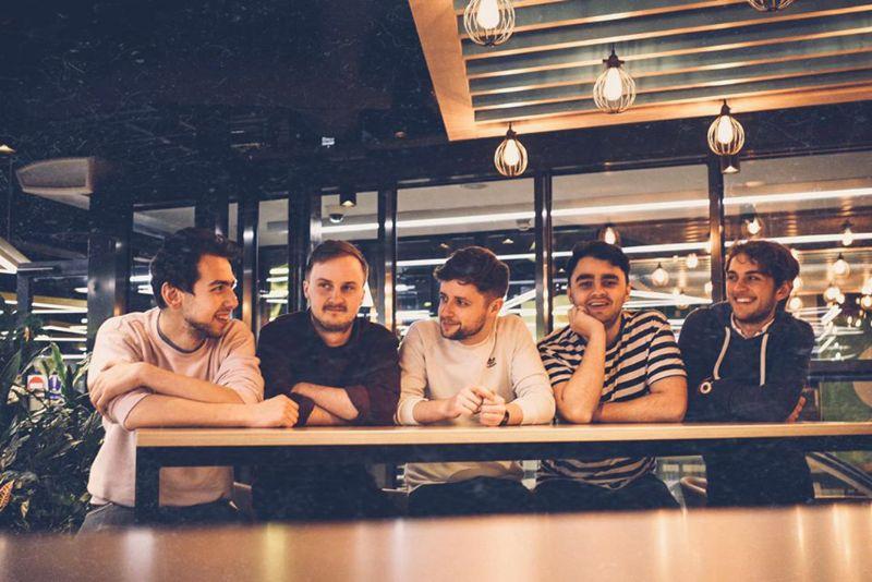 Junomoon, (L-R) David, George, Harry, Will, Lewis. Photo: Grace Wilkinson