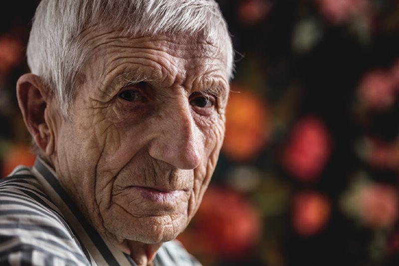 Elderley man sad lonely isolation