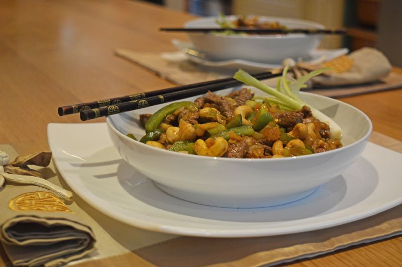Beef with cashews chinese dinner recipe